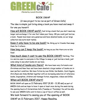 GREEN Cafe Book Swap Article for Parish Magazine January 2017