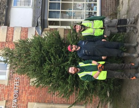 """Big """"Thank You"""" to Lackham College for donation of Christmas tree."""
